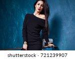 beautiful sexy woman pretty... | Shutterstock . vector #721239907