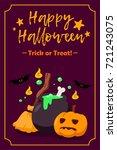 happy halloween postcard | Shutterstock .eps vector #721243075