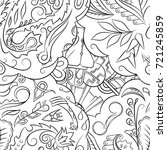 seamless mehndi vector pattern. ... | Shutterstock .eps vector #721245859