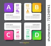 modern infographic presentation ... | Shutterstock .eps vector #721248961
