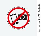 no photo icon vector | Shutterstock .eps vector #721249444