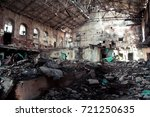 interior of abandoned and... | Shutterstock . vector #721250635