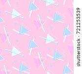 vector pop art retro pattern.... | Shutterstock .eps vector #721253539