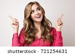 woman surprise showing  in... | Shutterstock . vector #721254631