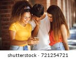 group of teenagers on the street | Shutterstock . vector #721254721