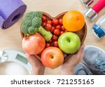 healthy lifestyle concept ... | Shutterstock . vector #721255165
