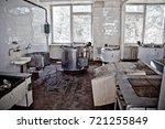 interior abandoned kitchen of... | Shutterstock . vector #721255849