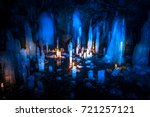 Ice Stalactites In The Cave....