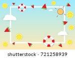 summer banner background.... | Shutterstock .eps vector #721258939