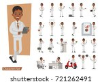 set of businessman character... | Shutterstock .eps vector #721262491