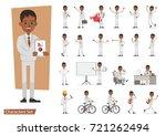 set of businessman character... | Shutterstock .eps vector #721262494
