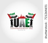 uae martyr's day. vector...