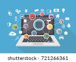 smart system. computing system. ... | Shutterstock .eps vector #721266361