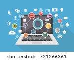 smart system. computing system. ... | Shutterstock .eps vector #721266361