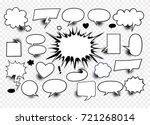 comic speech bubbles   vector... | Shutterstock .eps vector #721268014