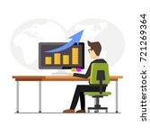 business finance monitoring... | Shutterstock .eps vector #721269364