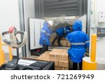 transporting goods in the... | Shutterstock . vector #721269949