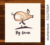 freehand drawing silhouette pig ... | Shutterstock . vector #721270369