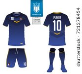 soccer jersey or football kit ... | Shutterstock .eps vector #721278454
