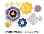 Crochet motifs - stock photo