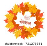 hello autumn. the decor of the... | Shutterstock .eps vector #721279951