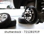 detail of car suspension  ... | Shutterstock . vector #721281919