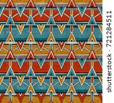tribal seamless pattern in... | Shutterstock .eps vector #721284511