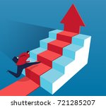 the businessman rushed to the...   Shutterstock .eps vector #721285207