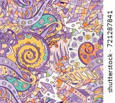 tracery seamless pattern.... | Shutterstock .eps vector #721287841