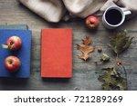autumn season still life with... | Shutterstock . vector #721289269