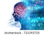 double exposure image of... | Shutterstock . vector #721292725