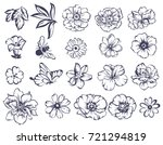flower set | Shutterstock . vector #721294819