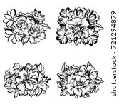 flower set | Shutterstock .eps vector #721294879