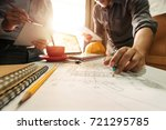 creative architect projecting... | Shutterstock . vector #721295785