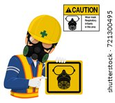 worker with respiration mask is ... | Shutterstock .eps vector #721300495