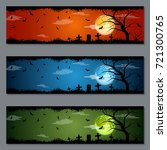 halloween colorful vector... | Shutterstock .eps vector #721300765