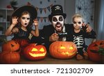 family father and children in... | Shutterstock . vector #721302709