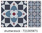 arabic patter style tiles for... | Shutterstock .eps vector #721305871