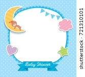 baby shower template design... | Shutterstock .eps vector #721310101