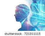 double exposure image of... | Shutterstock . vector #721311115