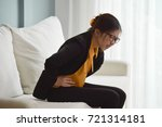 young asian glasses business...   Shutterstock . vector #721314181
