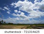 dry crack red sticky soil from... | Shutterstock . vector #721314625