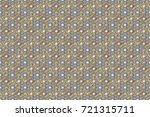 floral ornament brocade textile ... | Shutterstock . vector #721315711