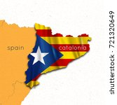 map of spain and catalonia.... | Shutterstock .eps vector #721320649