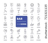 line icons set. bar pack.... | Shutterstock .eps vector #721321135