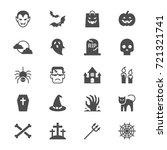 halloween flat icons | Shutterstock .eps vector #721321741