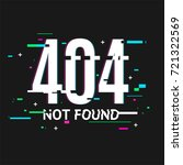 404 not found problem... | Shutterstock .eps vector #721322569
