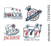 poker championship at casino... | Shutterstock .eps vector #721325431