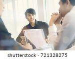 asain business people are using ... | Shutterstock . vector #721328275