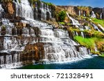 beautiful natural cascades of... | Shutterstock . vector #721328491